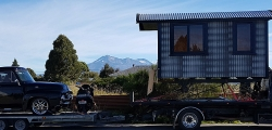 Transporting Tiny house and 1954 Fird F100