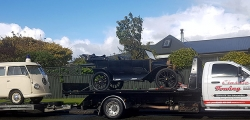 Transporting 1917 Ford Model T 1959 Kombi Ambulance - Hastings to Invercargil