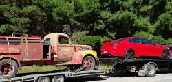 Transport of 2017 Holden HSV & 1948 Ford Fire Engine - Auckland to Oamaru